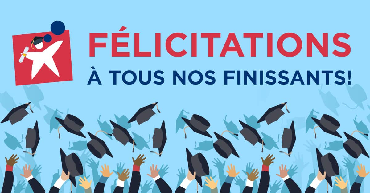 Félicitations à nos finissants