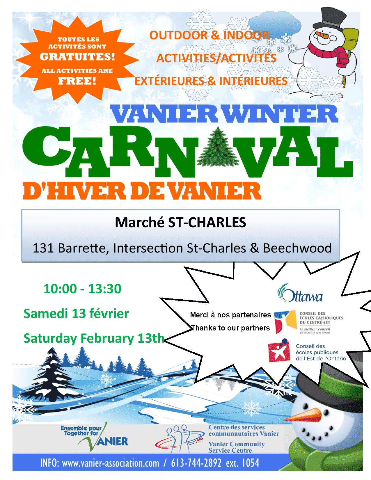 carnaval hiver vanier