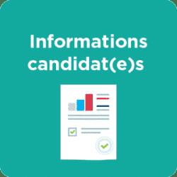 Informations candiadat(e)s