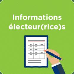 Informations électeur(rice)s