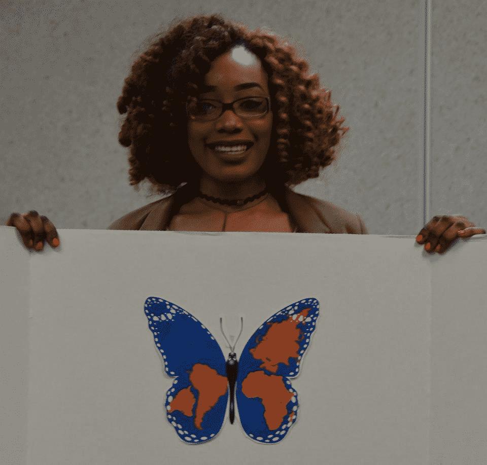 Mascotte de l'école des adultes Le Carrefour : Le papillon