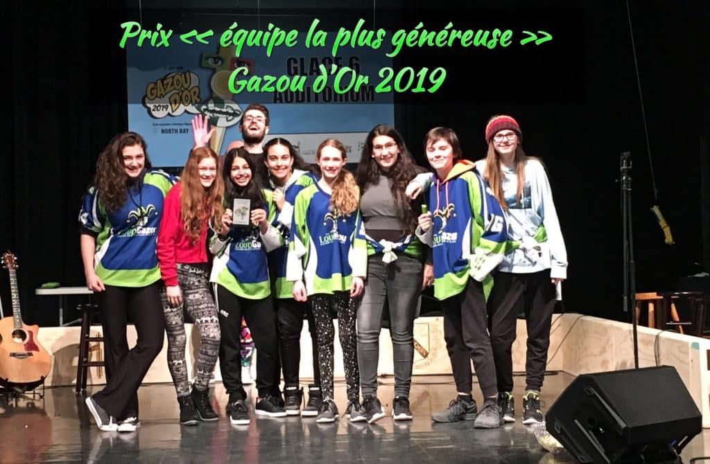 7e édition du tournoi provincial d'improvisation du Gazou d'or