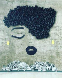 Les élèves de l'École secondaire publique Gisèle-Lalonde ont confectionné cet œuvre afin de souligner le Mois de l'histoire des Noirs.