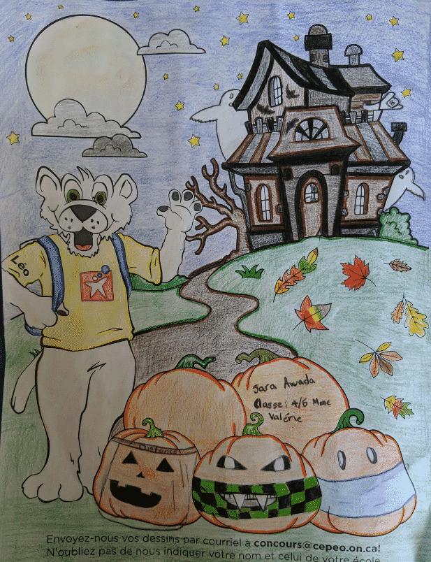 Dessin d'Halloween de Léo