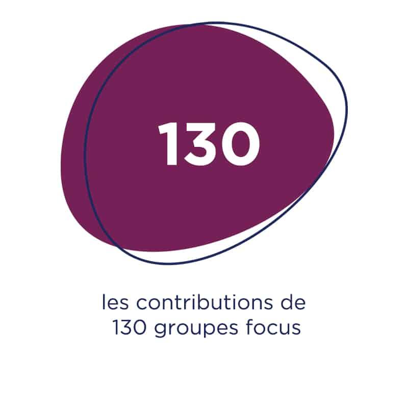 Galet de couleur violette plan stratégique 2020-2025