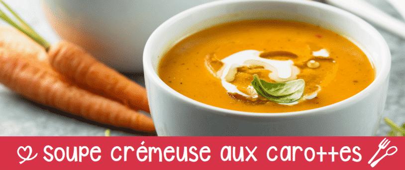 Soupe crémeuse aux carottes