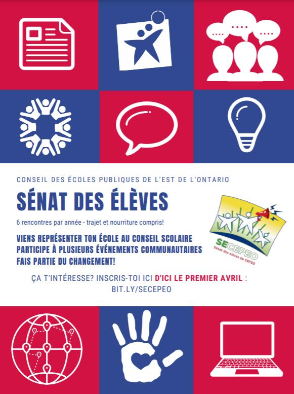 Sénat des élèves - affiches élection