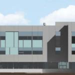 Rendu photoréaliste agrandissement école secondaire publique De La Salle