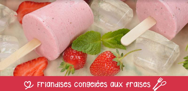 friandises congelées aux fraises.